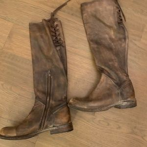 Bed Stu brown distressed boots